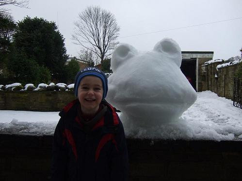 Snow Frog and Alex